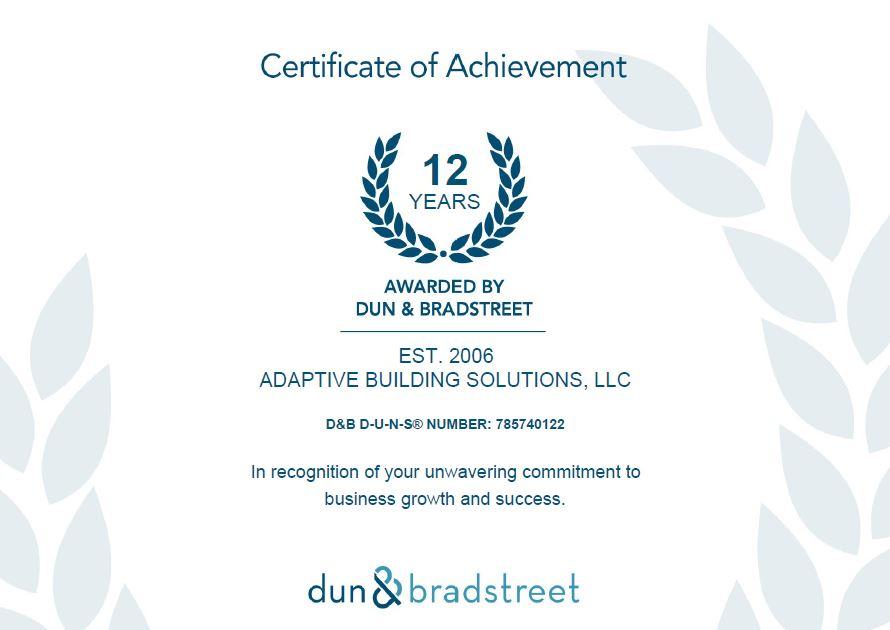Adaptive Building Solutions LLC News
